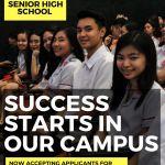 Application for Senior High School Starts Now!