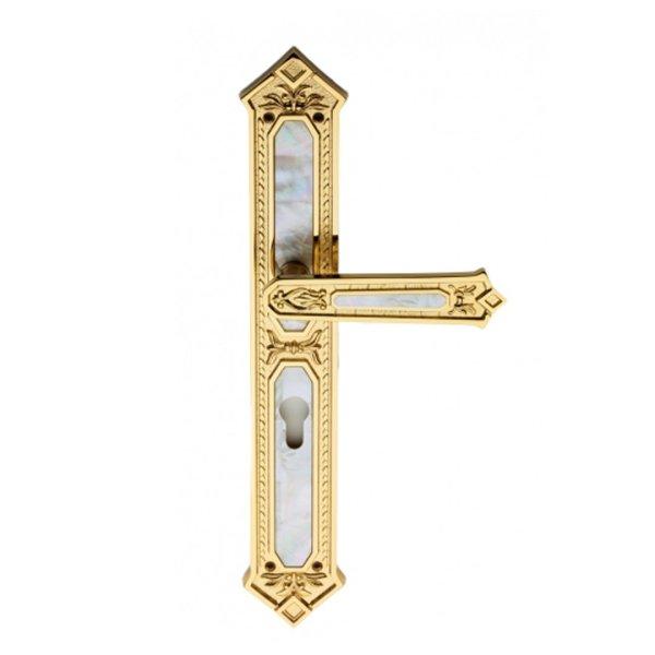 Maniglia su placca oro madre perla King Jewellery
