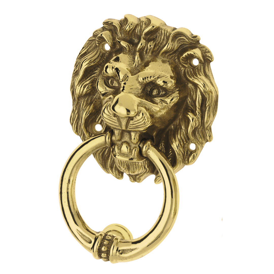 Knocker Leone polished brass