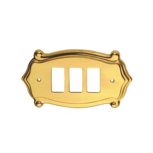 Switch cover in polish brass Anubi Classique