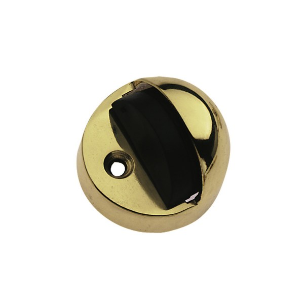 Brass door stopper polished brass
