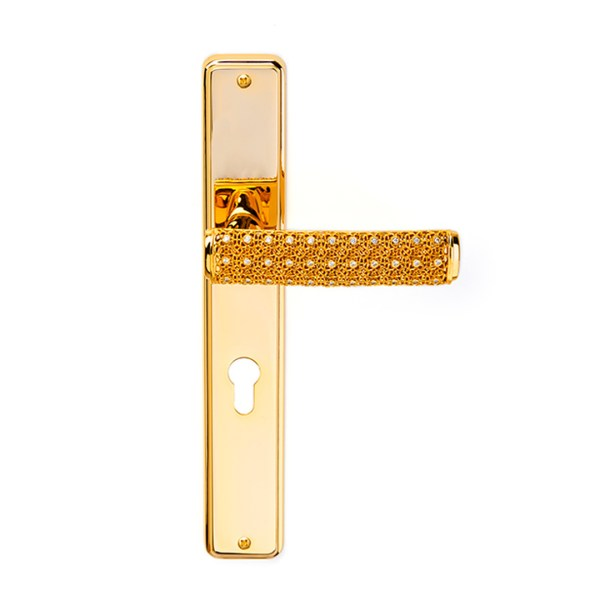 Handle on plate gold 24kt crystals dream 2 jewellery