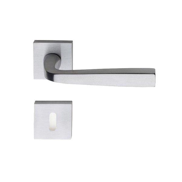 Handle on square rose satin chrome asolo i-design