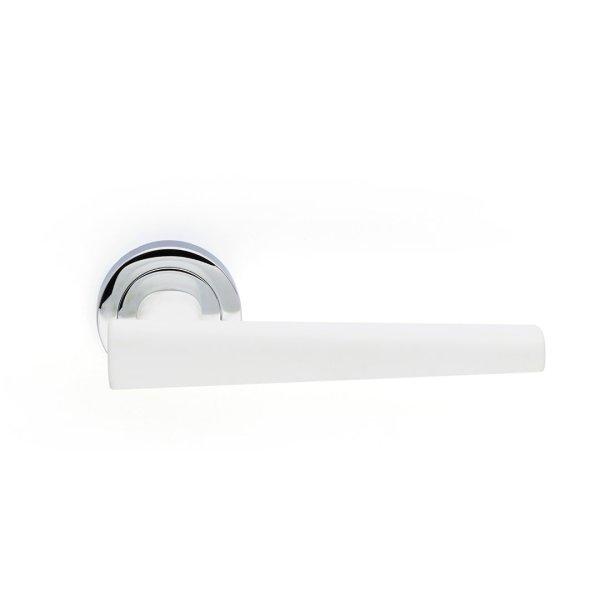 Handle on rose chrome white soft touch portofino i-design