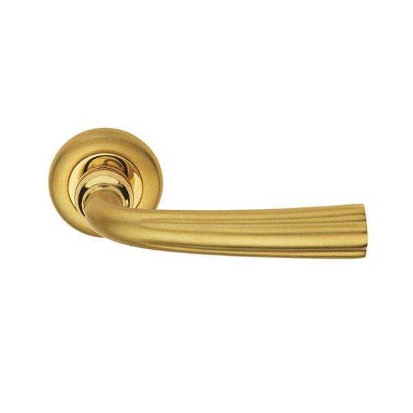 Maniglia su rosetta in oro e oro sabbiato Corolla Classique