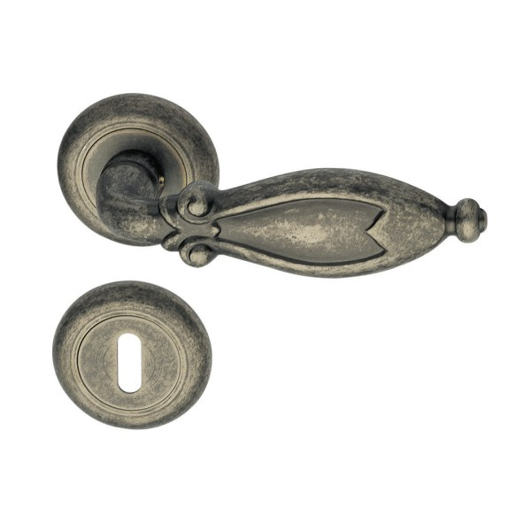 Handle on round rose pewter cleopatra classique
