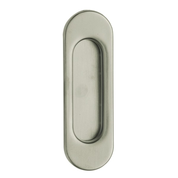 Flush handle satin chrome