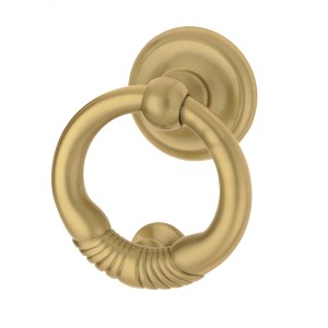 Knocker satin brass Pireo