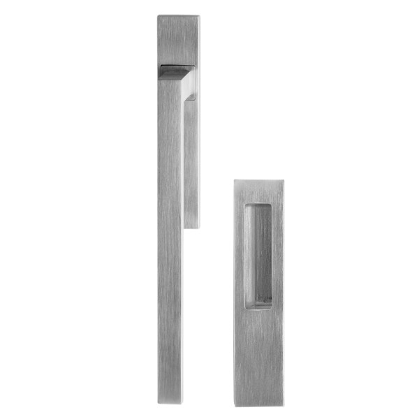 Pull handle Anta ribalta Quadrato satin chrome Fashion