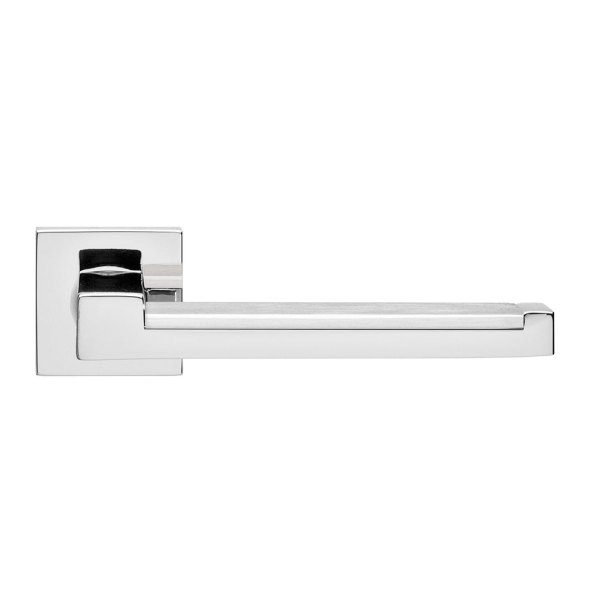 Handle on rose satin chrome lucca i-design