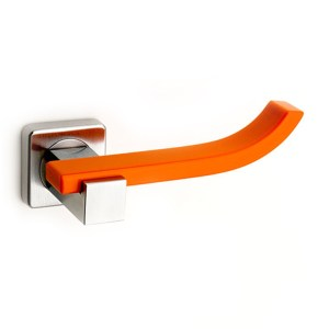 Handle on rose in chrome and corian mandarin Plus Up Fashion