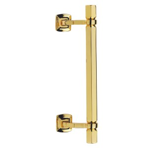 Pull handle polished brass Esagonale Fashion