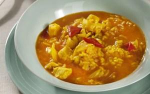 Arroz caldoso con pollo y especias receta de thermomix Tm6