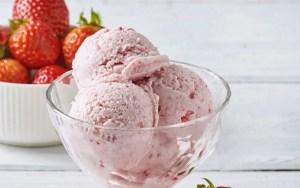 receta de Helado cremoso de fresas preparado en Thermomix