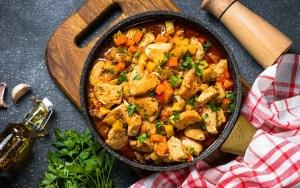 Estofado mexicano de pollo con Camote (batata) Thermomix