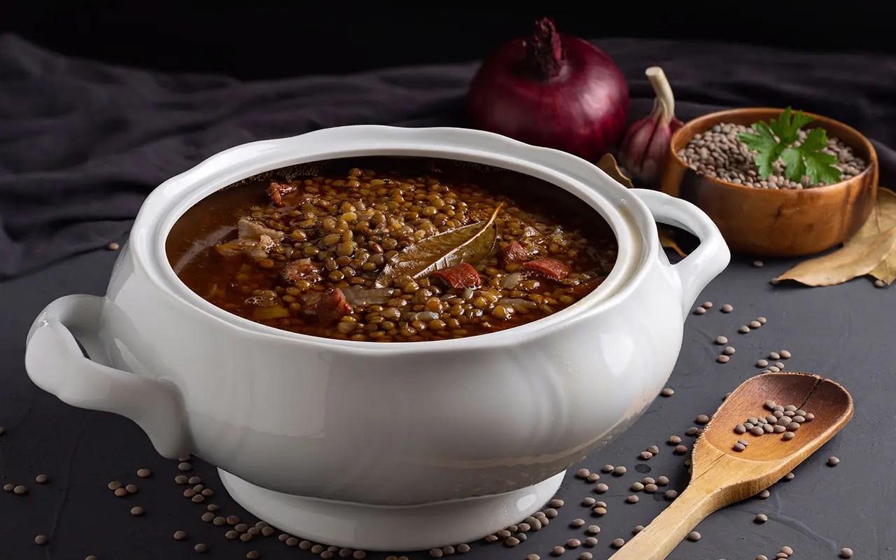 receta Cazuela de lentejas con chorizo y arroz thermomix