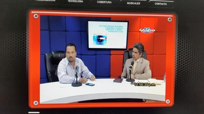 El periodista  Ivis Alvarado de Globo TV denuncia actos intimidatorios en su contra