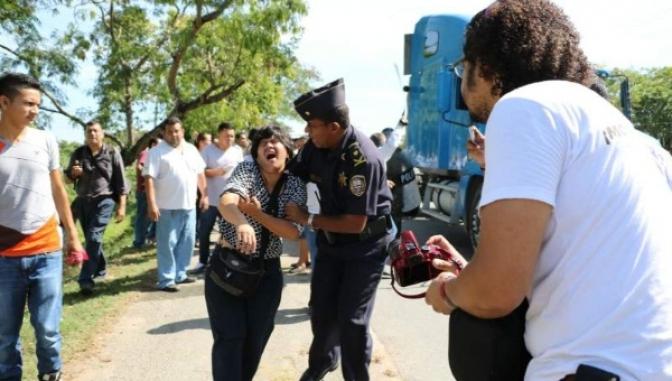 La Periodista Dunia Montoya fue salvajemente golpeada por policías