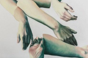 """Marta Dell'Angelo, """"Folata"""", 2016 olio su tela, 200x230cm Foto di Elena Foresto"""