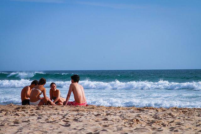 praia costa da caparica_portugal