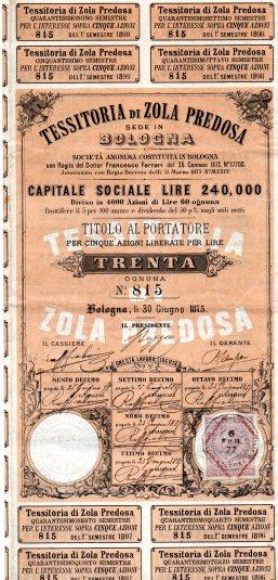 1875 Tessitoria di Zola Predosa Bologna