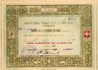 1926 Soc di Pubblica Assistenza e M.S.la Croce Bianca Arezzo