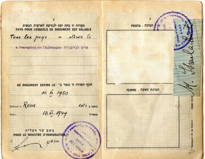 1949 Statodi Israele Ril. a Roma-