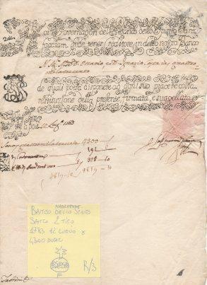 1783 Banco dello Spirito Santo 2 tipo Napoli. R4