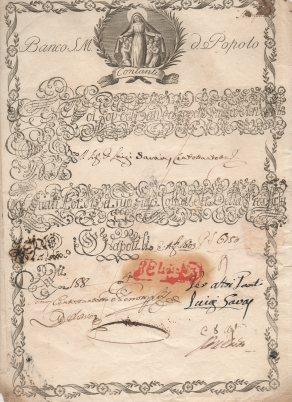 1803 Banco diSanta Maria del Popolo.....Napoli