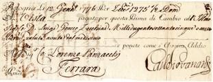 1776 Bologna a firma Panzacchi Luciano