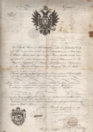 1818 Austria Lombardo-Veneto Consolato di Parigi per Praga