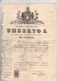 1893 Passaporto Umberto i Valido x gli Stati d'Europa