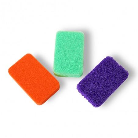 lot de 3 eponges en mousse de silicone multi usages 100 hygieniques s utilisent sur tout innovation menage