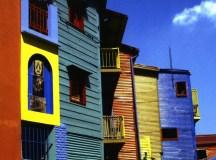 The painted buildings of La Boca.