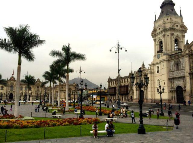 Plaza de Armas in Lima.