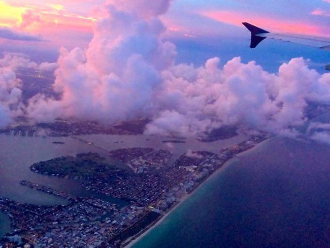Miami, Florida from plane