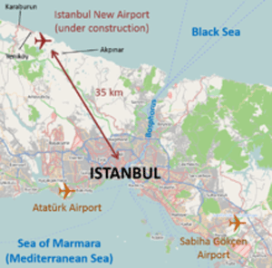 Istanbul New Airport location