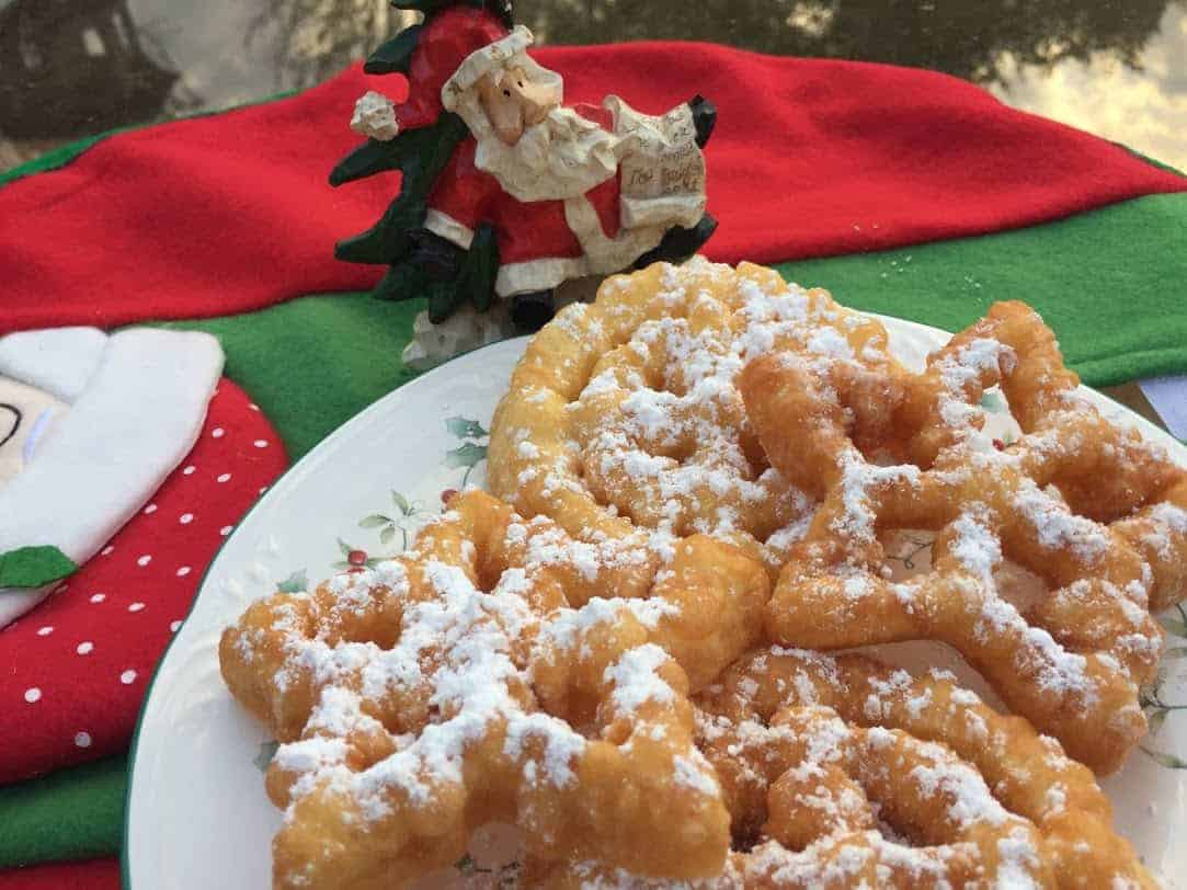 Funnel cake rosettes, a Christmas treat!