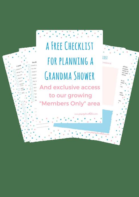 Hosting a Grandmother Shower. Grandmother Shower Planning Printable