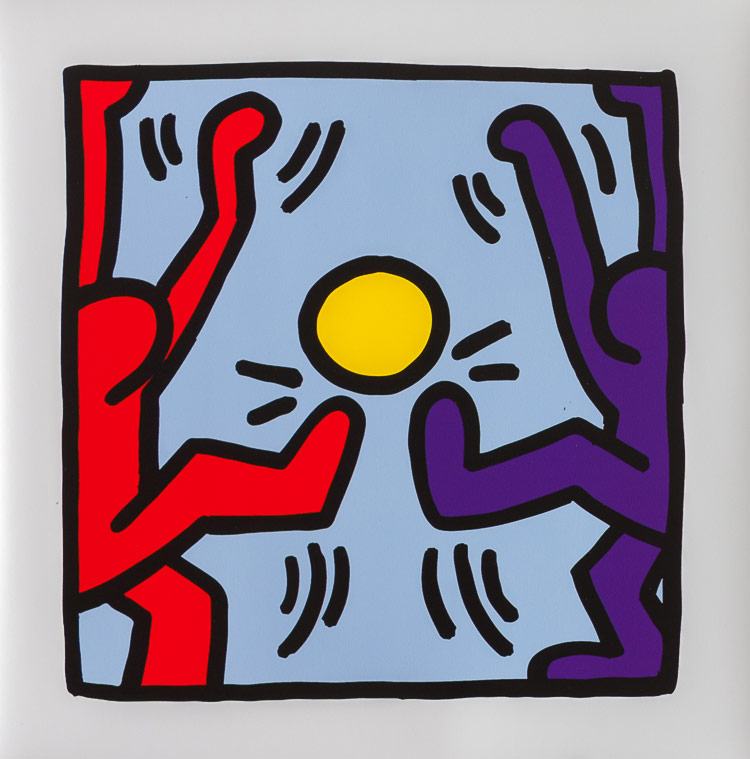 keith haring poster untitled 1988