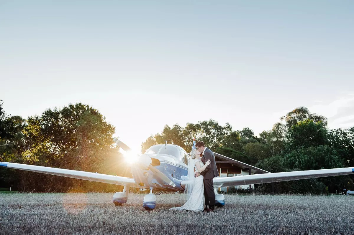 Wedding at Brown Brothers Winery, areoplane