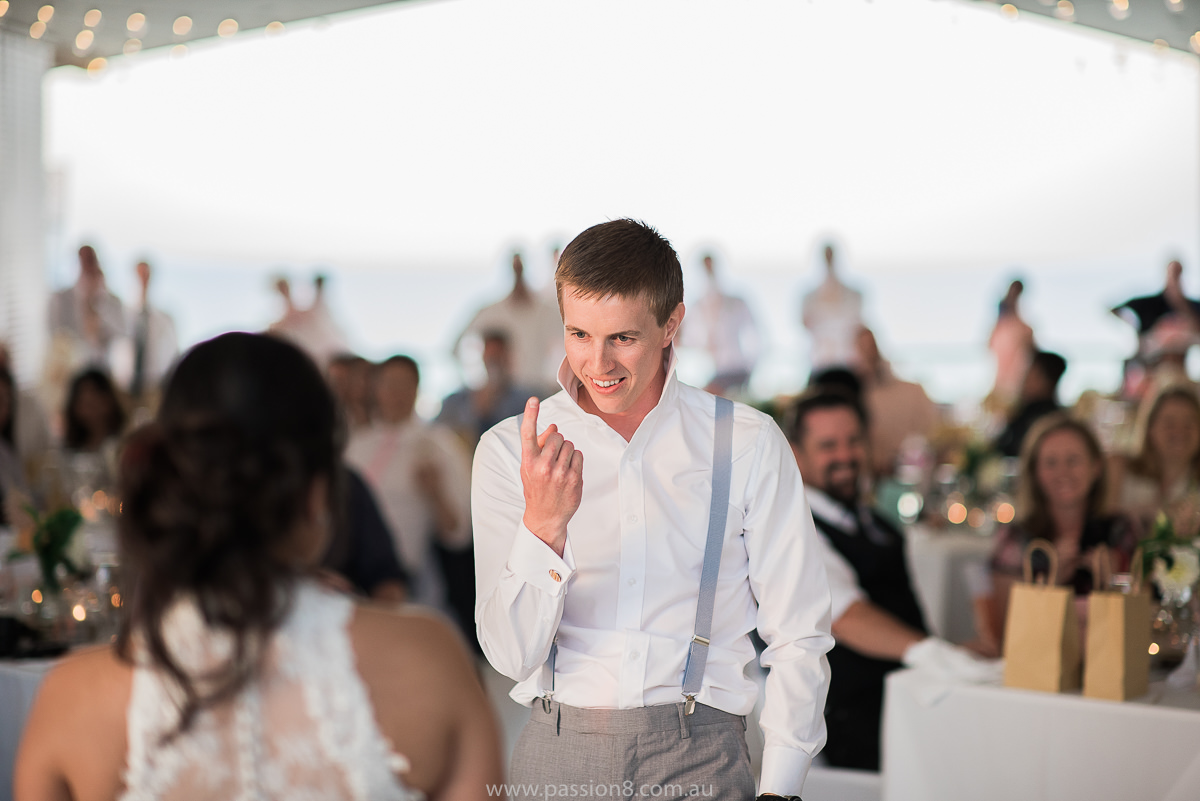 Wedding dance at Portsea Hotel