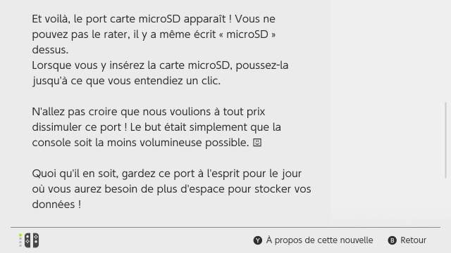 Switch Interface - Carte microSD texte
