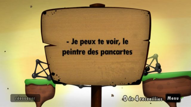 World of Goo - Peintre des pancartes
