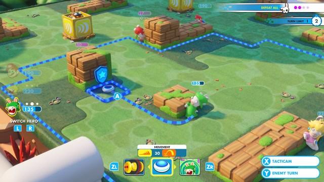 Mario + Lapins Crétins combat
