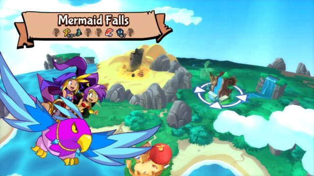 Shantae Half Genie Hero - carte et objets