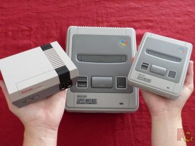 Mini SNES comparaisons 3 consoles