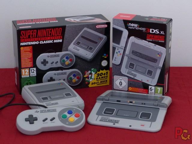 new 3DS XL SNES et SNES mini