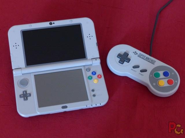 new 3DS XL SNES intérieur manette