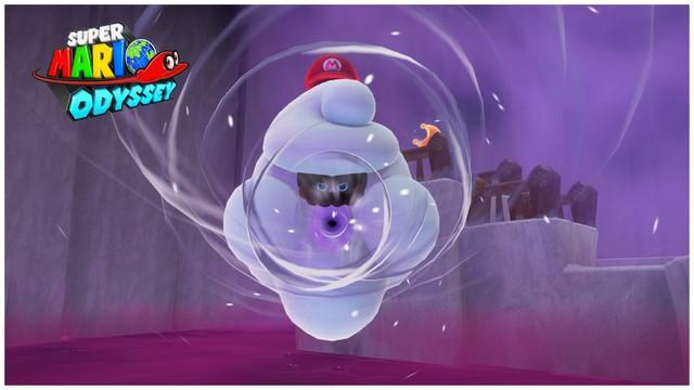 Super Mario Odyssey - pays neiges 2